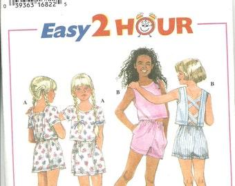 Simplicity Pattern 9638 Easy 2 Hour Toddler & Girls Summer Separates Top Shorts Skort (3-6) UNCUT
