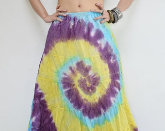 Skirt SQA111-XXL Lagenlook Carnival Sun Boho Tie-Dye Batik Plus Size Broomstick