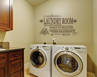 Laundry Room Decal - Laundry Vinyl Wall Decal - Wall Decal - Laundry Room Decor