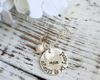 Memorial Necklace . Personalized Necklace . Personalized Memorial Necklace . Mom Jewelry . Gift for Her . Personalized Jewelry . In Memory