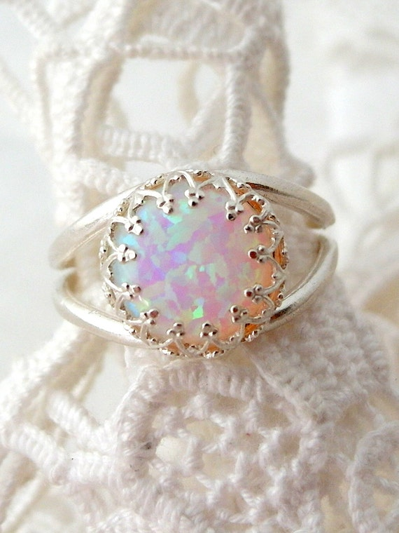Items Similar To Opal Ring White Opal Ring Silver Opal