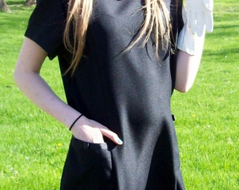 Vintage Ladies Black Dress by Willow Ridge Large Only 7 USD