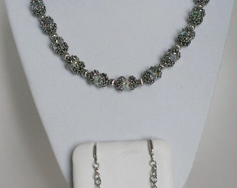 Crystal Princess Necklace and Earrings Set