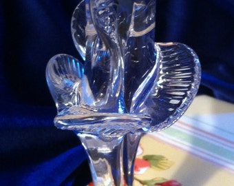 Unusual Paperweight, Freeform Crystal, Signed and Numbered, Swedish Made, 6 & one half inches Tall