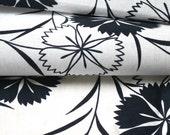 Vintage Yukata Cotton, Cotton Fabric, Floral Cotton, Navy Blue and White Fabric, Kimono Fabric.