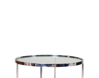 Knoll Round Glass Top Table