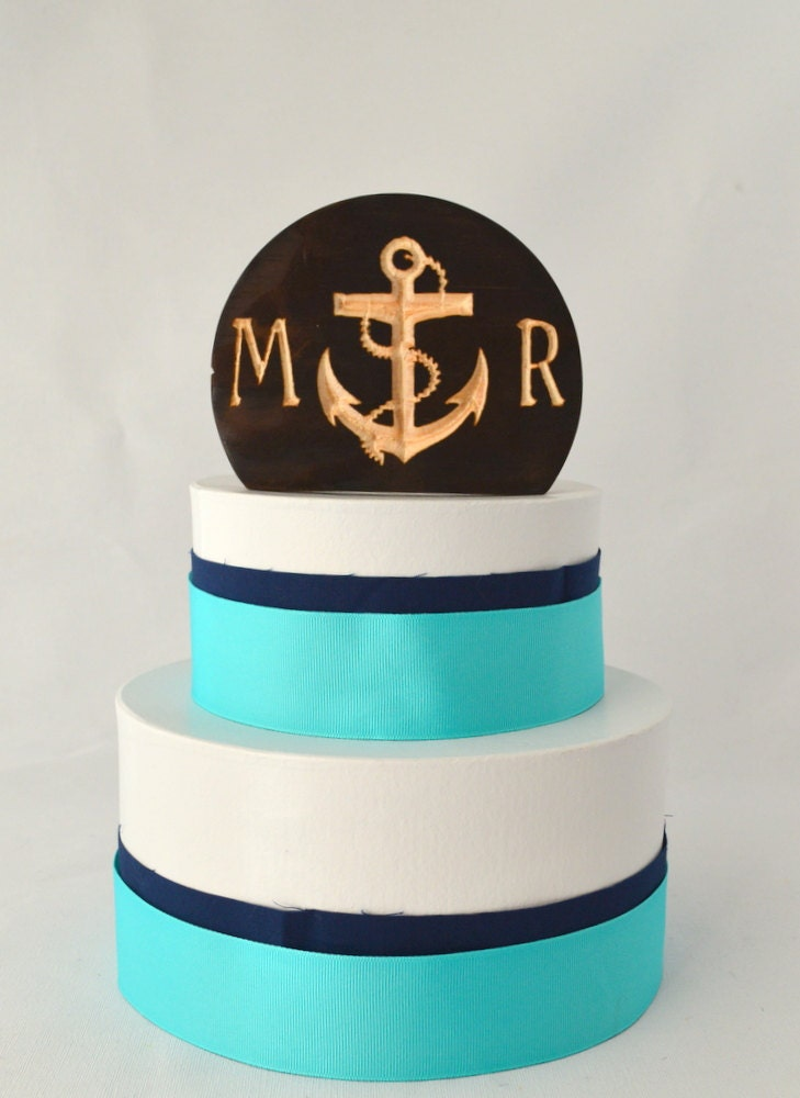 Nautical Anchor Wedding Cake Topper rustic and by ...