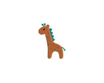 Mini Giraffe Machine Embroidery Design-INSTANT DOWNLOAD-3 sizes