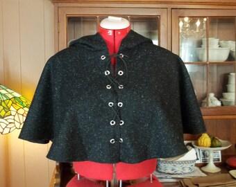 Custom Wool Hooded Mantle