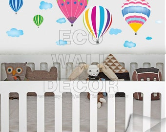 PEEL and STICK Removable Vinyl Wall Sticker Mural Decal Art - Balloon wall sticker, Hot Balloon wall sticker