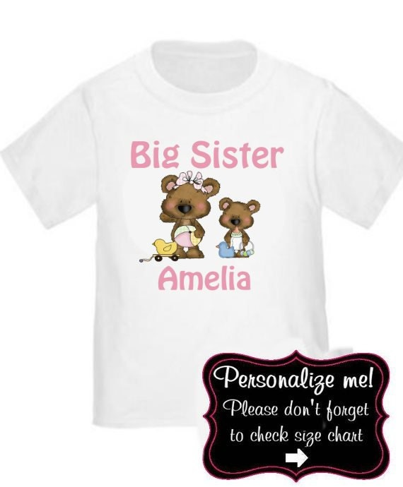 gro e schwester tragen personalisierte t shirt big sister. Black Bedroom Furniture Sets. Home Design Ideas
