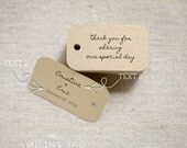 Chic Gold Thank You for Sharing Our Special Day Wedding Gift Tags - Wedding Favor Tags - Custom Wedding Favor - Set of 40 (Item code: J507)