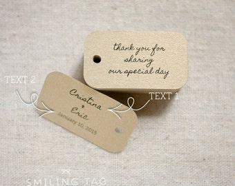 Chic Gold Thank You For Sharing Our Special Day Wedding Gift Tags