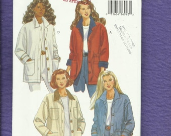 Butterick 6919 Ranch Hand Jackets with Drop Shoulder & Rolled Cuffs  Size XS..S..M Uncut