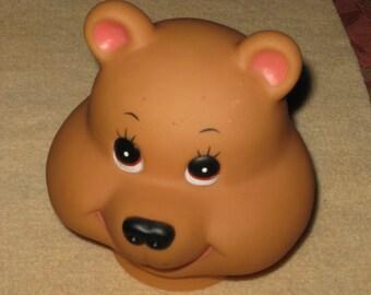 Vintage Bear Babies Doll Head Darice Crafts Plastic 1984