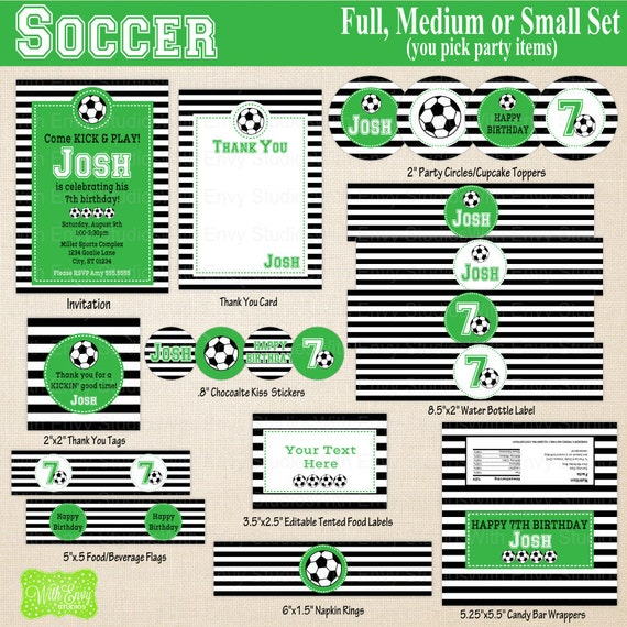 Items Similar To Soccer Printables