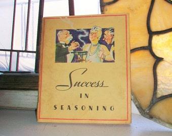 Success in Seasoning Vintage 1934 Cookbook Lea and Perrins Cook Book