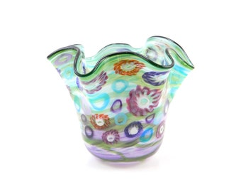 Hand Blown Glass Vase - Art Glass Vase