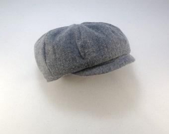 Baby Boy Cap, Baby Newsboy Hat, Boys Newsboy Cap, Paperboy hat, Pageboy hat, Newspaper boy hat, Baby boy hat, Ringbearer, Newborn Hat