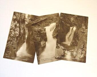 3 Vintage Postcards - Servoz - Gorges de la Diosaz - Sepia Postcards