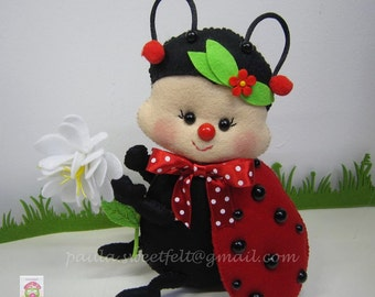 Miss Ladybug - Felt decoration