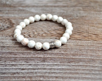 White Howlite Men's Bracelet