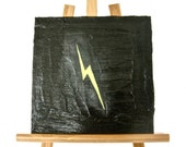 "Original Acrylic Painting on a 8"" x 8"" Canvas Entitled - ""Lightning Bolt"""