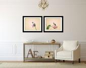 Hummingbird Art Set, Pink Wall Decor Set, Hummingbird Photography, Modern Picture Set, Large Wall Art, Livingroom Decor, Bird Photography