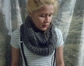 Motley Gray Super Soft Crocheted Infinity Scarf
