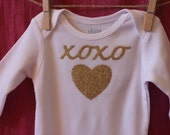 XOXO Valentine's Day Onesie long sleeve short sleeve