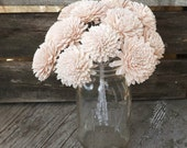 "12 Stemmed Sola Flowers Dahlia Blush Pink Light Pink Set of 12 Stemmed DIY Wedding Bouquet 2 1/4""-3 1/2"""