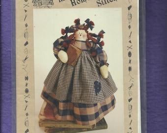 Dear Diary Rag Doll Rustic Folk Katie's Homespun Stitches KHS-35 Size 11 inch Doll  UNCUT