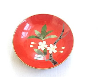 Mid Century Modern Home Decor, Japanese Plate Pottery - Home Decor for Living Room Table, Made in Japan, Bohemian Chic Decor