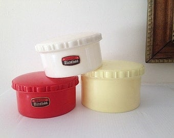 Biodrak Made In Greece, Mid Century Modern Kitchen Tupperware Containers, Plastic Food Canisters, Retro 1960s Home Decor