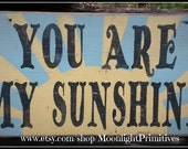 You Are My Sunshine, Wooden Signs, Nursery Decor, Baby Shower Gift, Retro Sign,  Distressed Signs