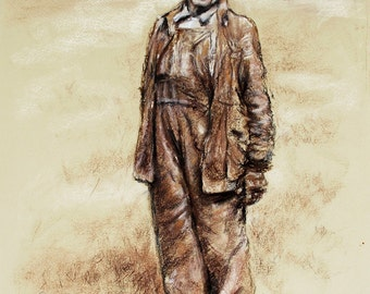 "Appalachian, Mountain state, monotone portrait, Choose size,  Laurie Shanholtzer ""West Virginia Coal Miner"""