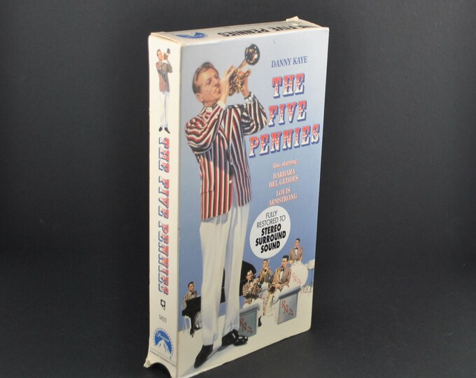 Vintage The Five Pennies VHS Tape - 1959 Remake - Danny Kaye - Barbara Bel Geddes - Movie - MGM - Biography - Drama - VCR