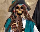 Life Size Pirate Skeleton Haunt Retail Prop