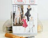 Misses Size 10 -20, wedding dress, Basque Waist, Ruffled peplum waist, 1980's Burda Couture  (5056) Vintage Sewing Pattern