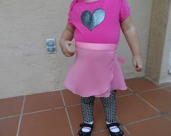 Baby Ballet Skirt 12-18 or 18-24 Months in 23 Colors, Ballet Skirt, Dance Skirt, Child Ballet Wrap Skirt
