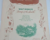 Sooner or Later Vintage Sheet Music Walt Disney's Song of the South 1946