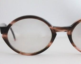 Vintage 50's Brown Tortoise Cat Eyeglasses Sunglass Frames