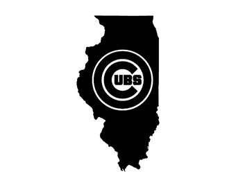 Chicago Cubs | Illinois Pride | High Quality Vinyl Decal |