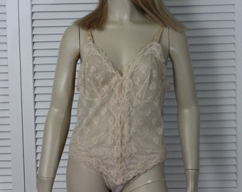 Vintage Camisole Sheer Nylon and Lace Cami Size 36 Lorraine