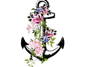 Vintage Anchor Temporary Tattoo *High Quality Die Cut Transfer*
