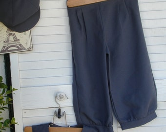 Stormy Grey Size 1-3 or 4-6 years Knicker Pants for  little boys, wedding ringbearer pants, Listing for Knicker Pants only