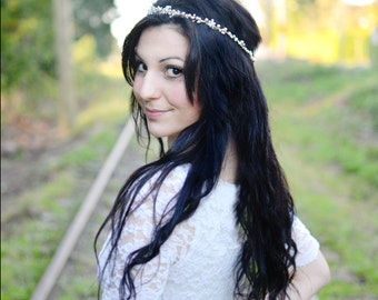 Bridal Hair Vine, Wedding Hair Accessory, Pearl and Crystal Bridal Hair, Bridal Headband - Liliane