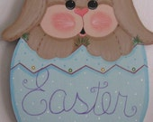 Easter, bunny, egg,  handpainted, wall decor, decoration