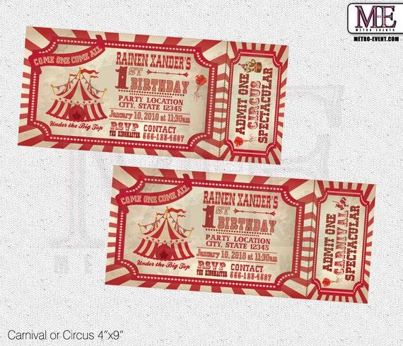 Vintage Circus Invitations 58