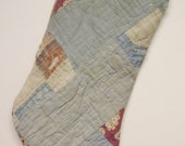 Christmas Stocking, Vintage Quilt Decor Stockings